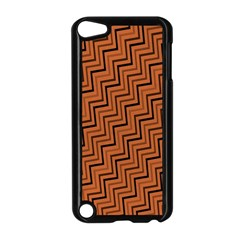 Brown Zig Zag Background Apple iPod Touch 5 Case (Black)