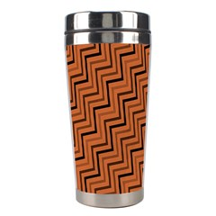 Brown Zig Zag Background Stainless Steel Travel Tumblers