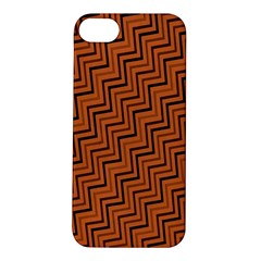 Brown Zig Zag Background Apple iPhone 5S/ SE Hardshell Case