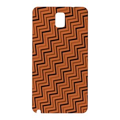 Brown Zig Zag Background Samsung Galaxy Note 3 N9005 Hardshell Back Case