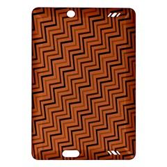 Brown Zig Zag Background Amazon Kindle Fire HD (2013) Hardshell Case