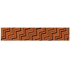 Brown Zig Zag Background Flano Scarf (large)