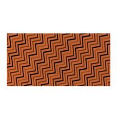 Brown Zig Zag Background Satin Wrap
