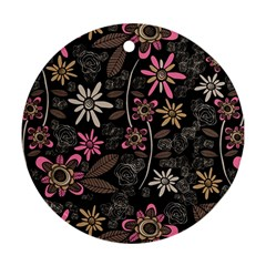 Flower Art Pattern Ornament (round)