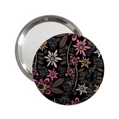 Flower Art Pattern 2 25  Handbag Mirrors