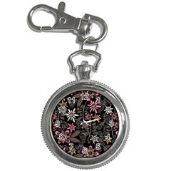 Flower Art Pattern Key Chain Watches