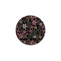 Flower Art Pattern Golf Ball Marker (4 pack)