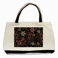 Flower Art Pattern Basic Tote Bag