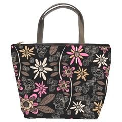 Flower Art Pattern Bucket Bags