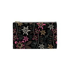 Flower Art Pattern Cosmetic Bag (Small)