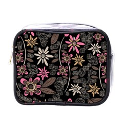 Flower Art Pattern Mini Toiletries Bags