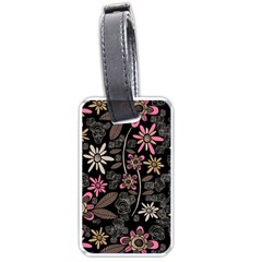 Flower Art Pattern Luggage Tags (one Side)