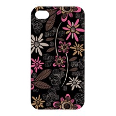 Flower Art Pattern Apple Iphone 4/4s Hardshell Case