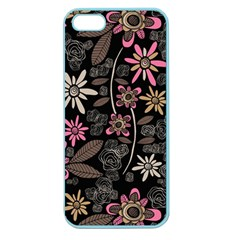 Flower Art Pattern Apple Seamless Iphone 5 Case (color)