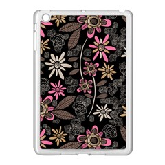 Flower Art Pattern Apple iPad Mini Case (White)