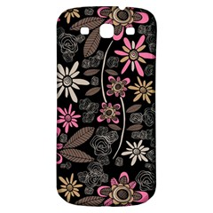 Flower Art Pattern Samsung Galaxy S3 S III Classic Hardshell Back Case