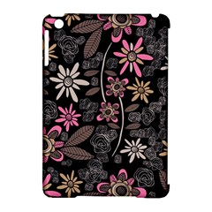Flower Art Pattern Apple iPad Mini Hardshell Case (Compatible with Smart Cover)