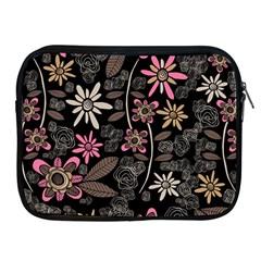 Flower Art Pattern Apple Ipad 2/3/4 Zipper Cases