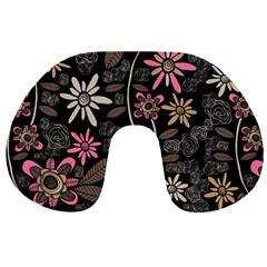 Flower Art Pattern Travel Neck Pillows