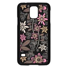 Flower Art Pattern Samsung Galaxy S5 Case (black)