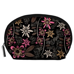 Flower Art Pattern Accessory Pouches (Large)