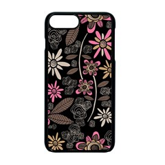 Flower Art Pattern Apple Iphone 7 Plus Seamless Case (black)