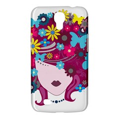 Beautiful Gothic Woman With Flowers And Butterflies Hair Clipart Samsung Galaxy Mega 6 3  I9200 Hardshell Case
