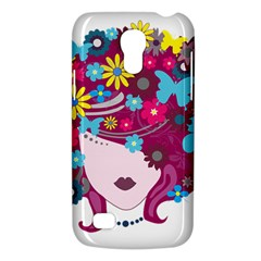 Beautiful Gothic Woman With Flowers And Butterflies Hair Clipart Galaxy S4 Mini