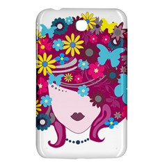 Beautiful Gothic Woman With Flowers And Butterflies Hair Clipart Samsung Galaxy Tab 3 (7 ) P3200 Hardshell Case
