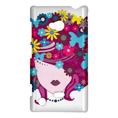 Beautiful Gothic Woman With Flowers And Butterflies Hair Clipart Nokia Lumia 720