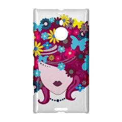 Beautiful Gothic Woman With Flowers And Butterflies Hair Clipart Nokia Lumia 1520