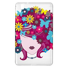 Beautiful Gothic Woman With Flowers And Butterflies Hair Clipart Samsung Galaxy Tab Pro 8.4 Hardshell Case