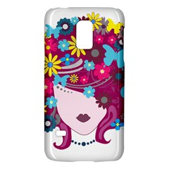 Beautiful Gothic Woman With Flowers And Butterflies Hair Clipart Galaxy S5 Mini
