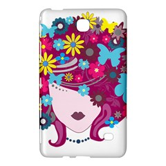 Beautiful Gothic Woman With Flowers And Butterflies Hair Clipart Samsung Galaxy Tab 4 (7 ) Hardshell Case