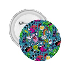 Monster Party Pattern 2 25  Buttons