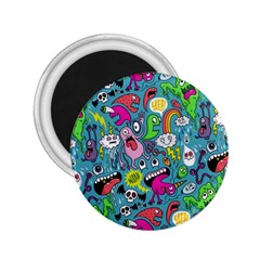 Monster Party Pattern 2.25  Magnets