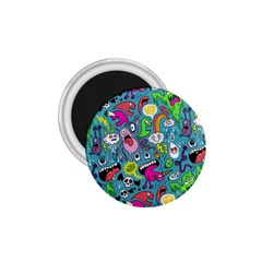 Monster Party Pattern 1 75  Magnets
