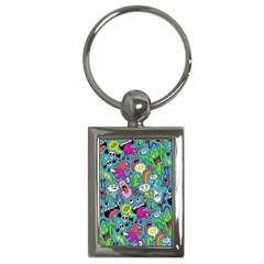 Monster Party Pattern Key Chains (rectangle)