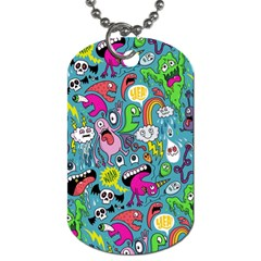 Monster Party Pattern Dog Tag (one Side)