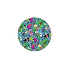 Monster Party Pattern Golf Ball Marker (10 pack)