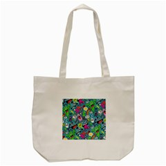 Monster Party Pattern Tote Bag (Cream)