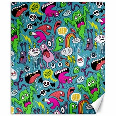 Monster Party Pattern Canvas 8  X 10
