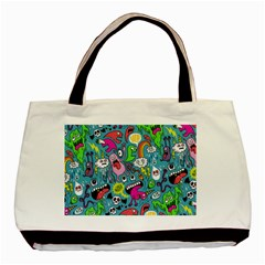 Monster Party Pattern Basic Tote Bag (Two Sides)