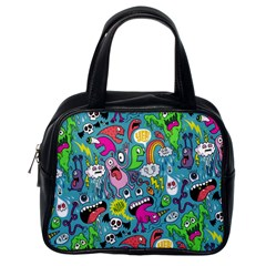 Monster Party Pattern Classic Handbags (One Side)