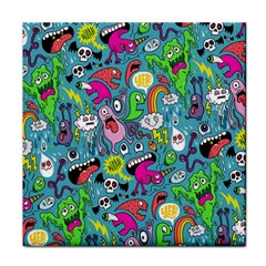 Monster Party Pattern Face Towel