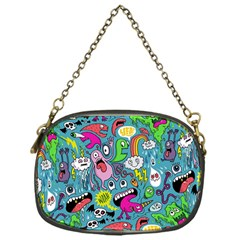Monster Party Pattern Chain Purses (one Side)
