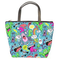 Monster Party Pattern Bucket Bags