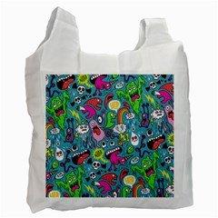 Monster Party Pattern Recycle Bag (one Side)