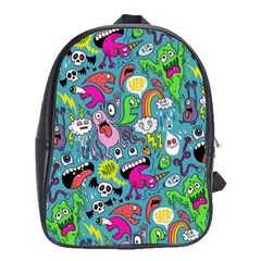 Monster Party Pattern School Bags(Large)