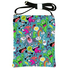 Monster Party Pattern Shoulder Sling Bags